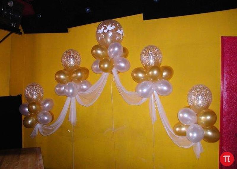 Свадебное оформление шарами своими руками фото