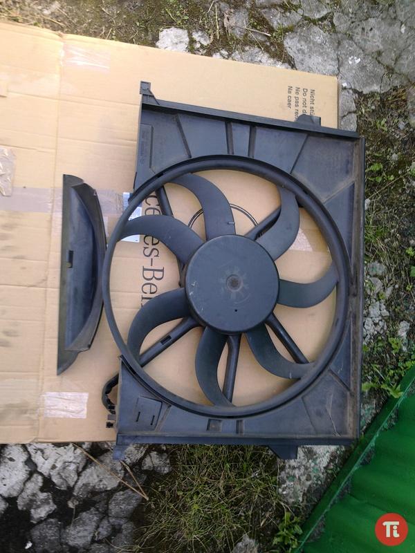 Мерседес вентилятор радиатора 3