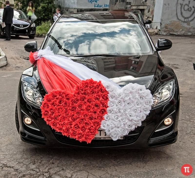 Как сделать украшения на машин на свадьбу