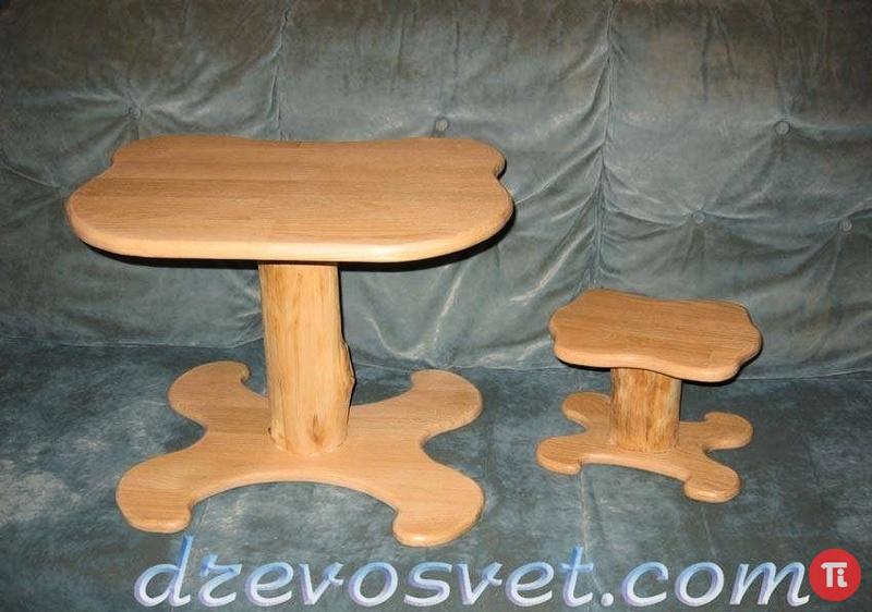 Детский столик и стульчики из дерева своими руками