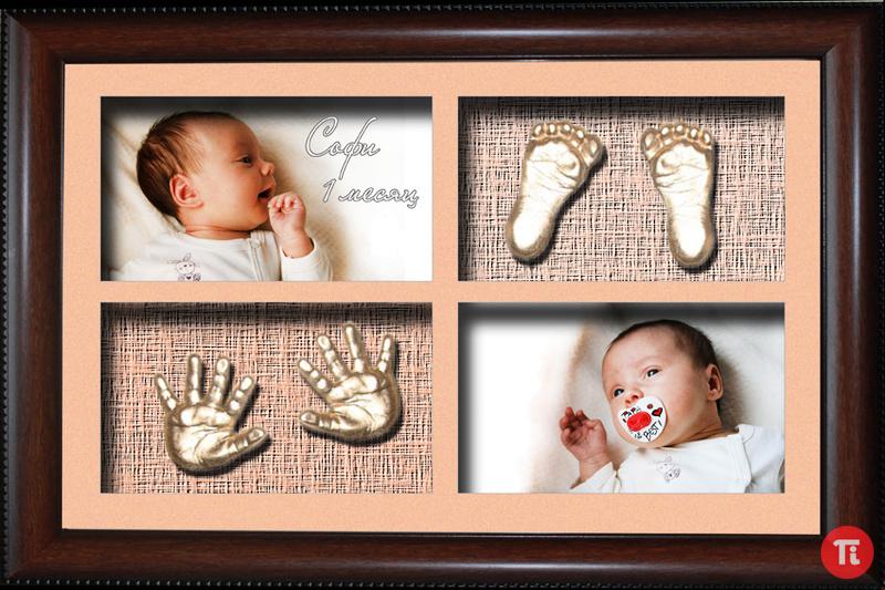 Отпечаток ноги ребенка своими руками 818
