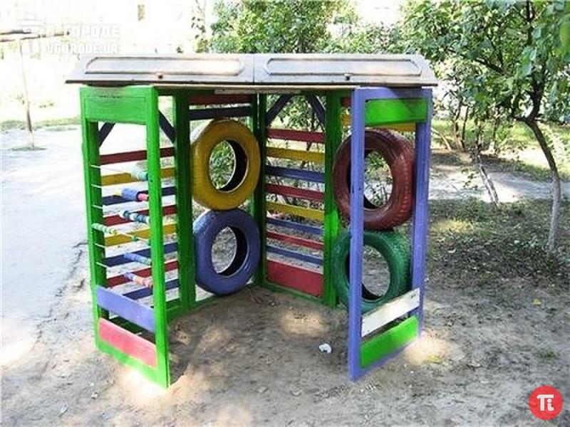 Детскую площадки в детском саду своими руками фото