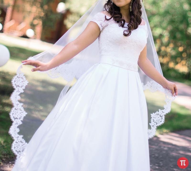 Платье нежное свадебное