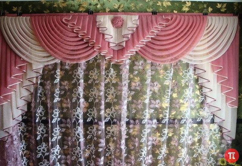 шторы ламбрекены своими руками цветы