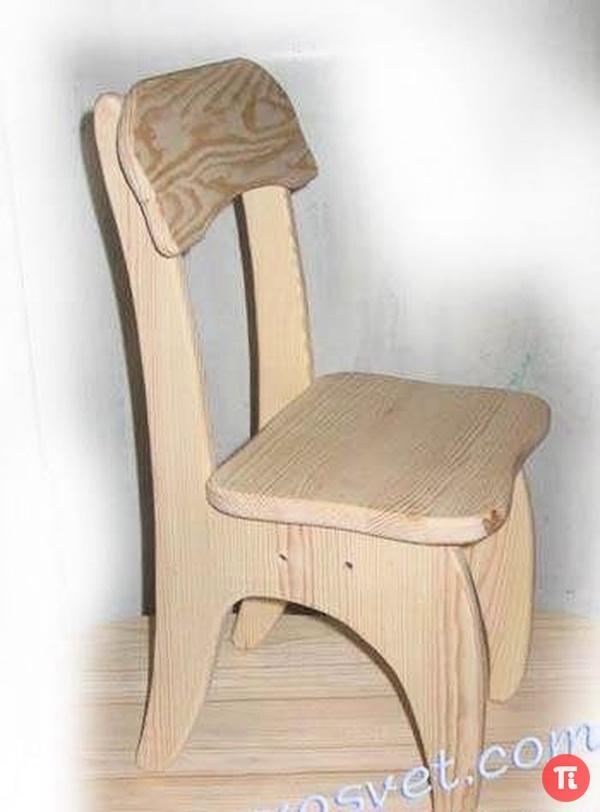 Как сделать детский стул из дерева своими руками