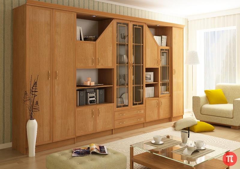 Стенка даниэль мдф 1 сергачская мебельная фабрика - корпусна.