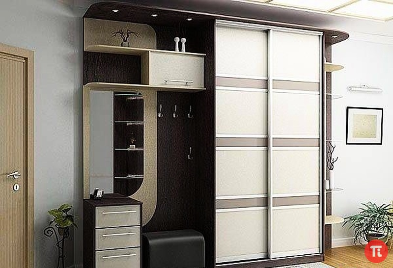 Шкафы-купе с фотопечатью в прихожую фото внутри 60 см глубина
