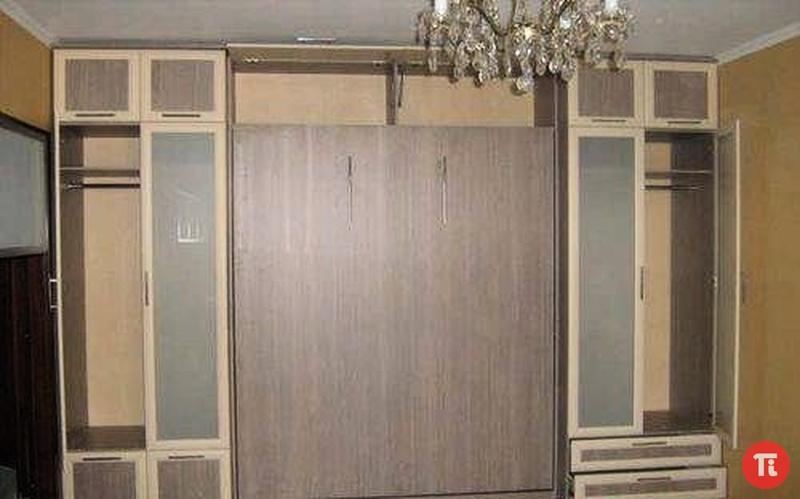 шкаф кровать в интерьере зала | Сборка шкафа