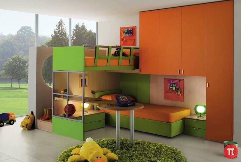 Корпусная модульная мебель для детской комнаты, мебель для детской на заказ, заказать детскую мебель