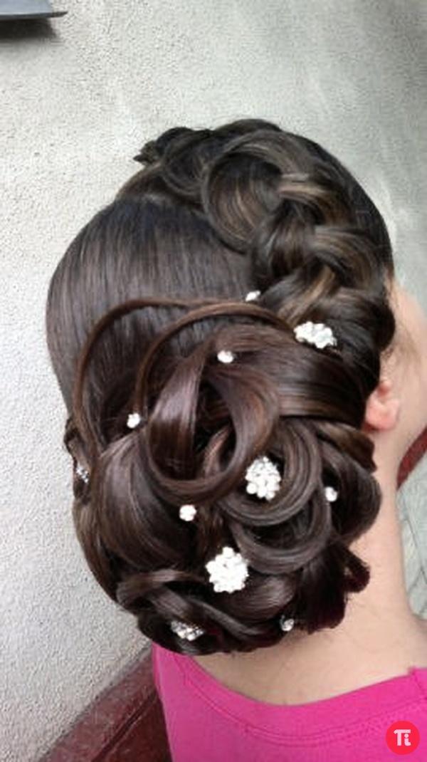 видео свадебные прически на длинные волосы с плетением