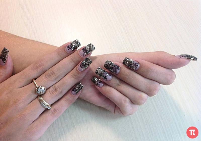 Моделирование ногтей и дизайн литье. жидкие камни.