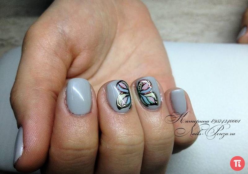 Фото ногтей литьем