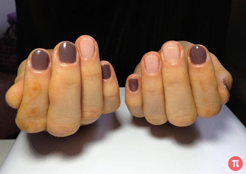 Короткие ногти под гель-лаком