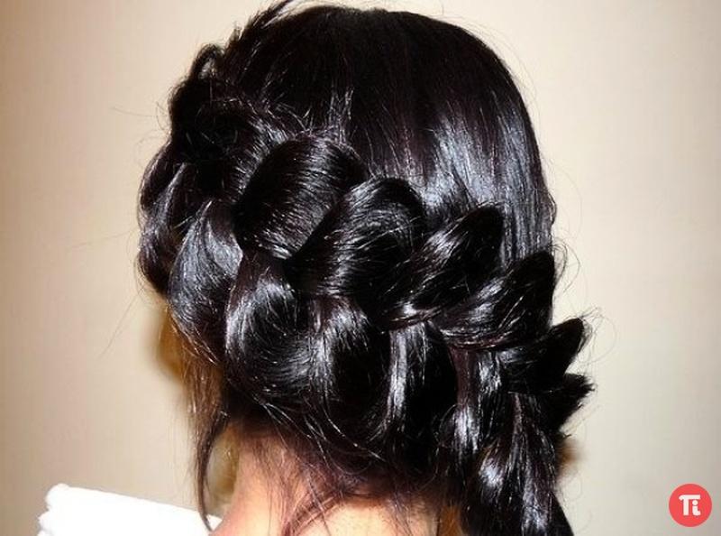 Плетение кос косичка снружи