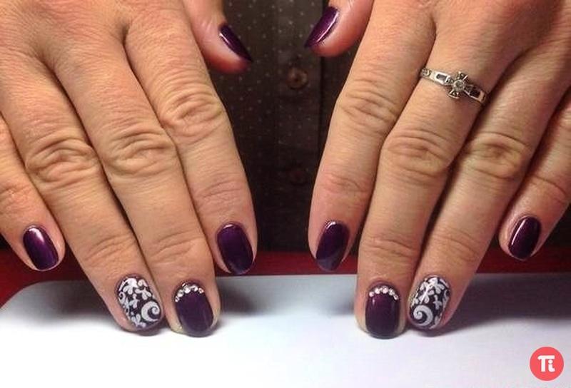 Фото красивых ногтей с рисунком шеллак