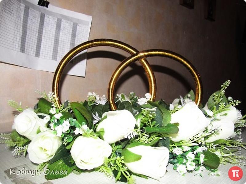 Сделать кольца на свадебную машину своими руками видео