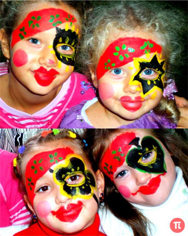 Детский макияж для девочки на день рождение