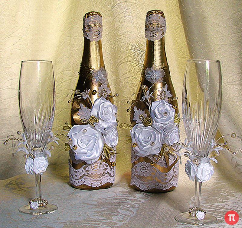 Украшения на свадьбу своими руками бутылки