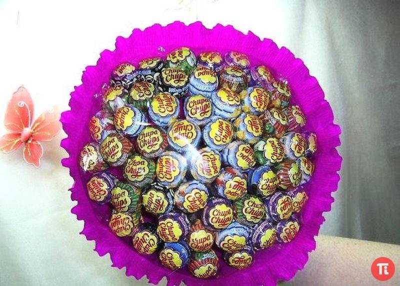 Детский букет из конфет своими руками пошаговое