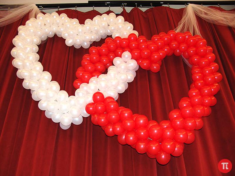 Сердце из шариков мастер класс