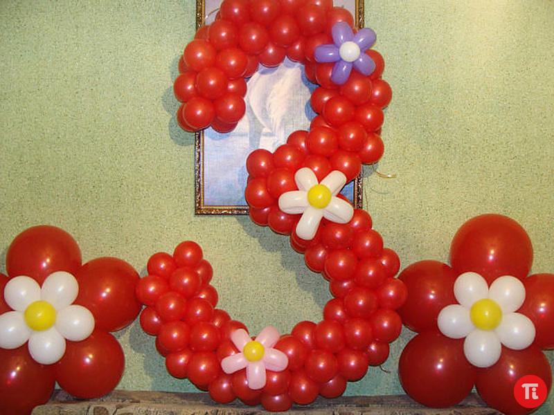 Цифры из воздушных шаров своими руками пошаговое фото