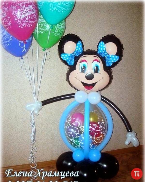 Поделки на день рождения из воздушных шаров своими руками 89