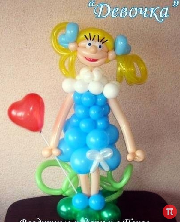 Девочка из шаров мастер класс с пошаговым