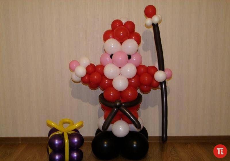 Дед мороз из шариков своими руками