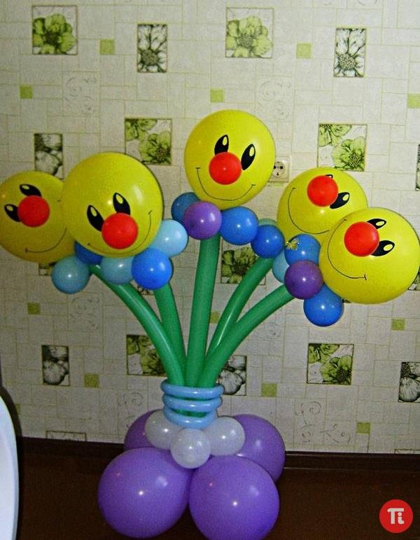 Композиции из шаров своими руками фото