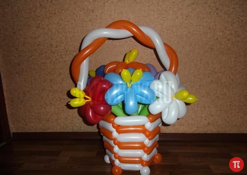 Корзины из шаров мастер класс с пошаговым фото для начинающих