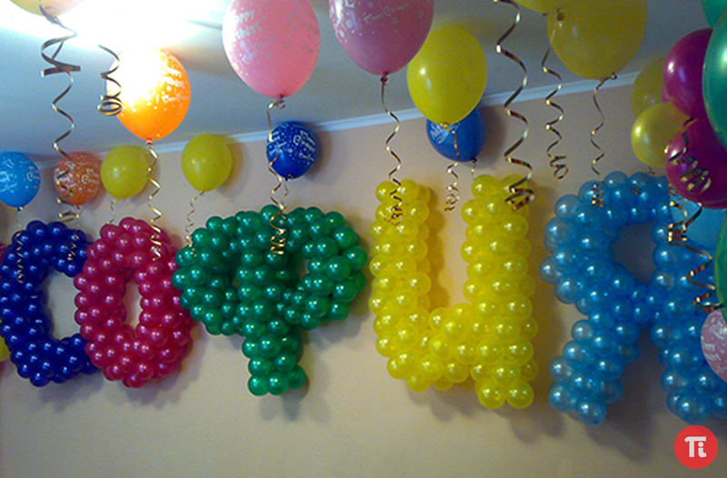 Как сделать букву из шаров своими руками