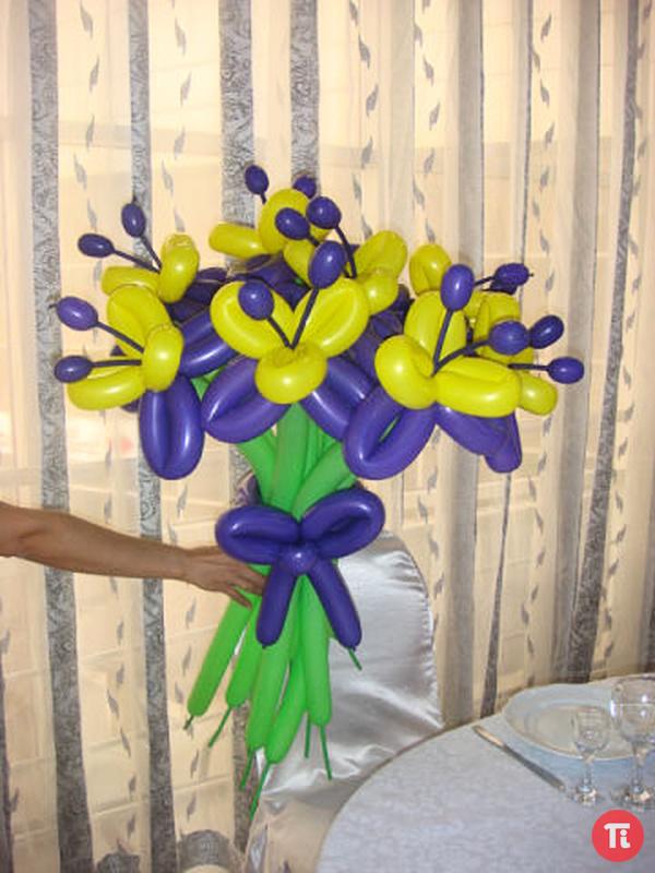Цветы из воздушных шаров своими руками мастер класс