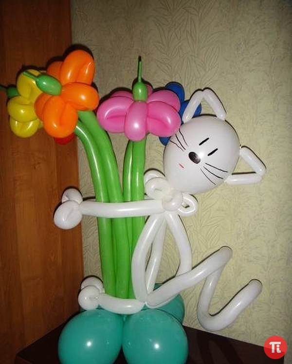 Как сделать фигуры из шаров своими руками на день рождения