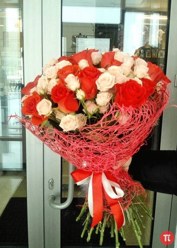 Букет цветов в живую