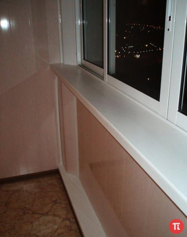 Как обшивать балкон ламинированным двп панелями. - пластиков.
