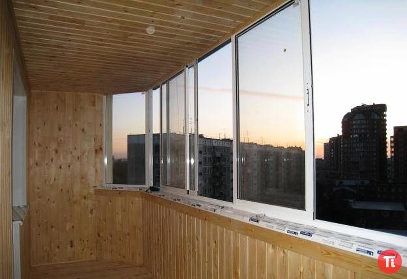 Остекление балконов, лоджий. обшивка евровагонкой..