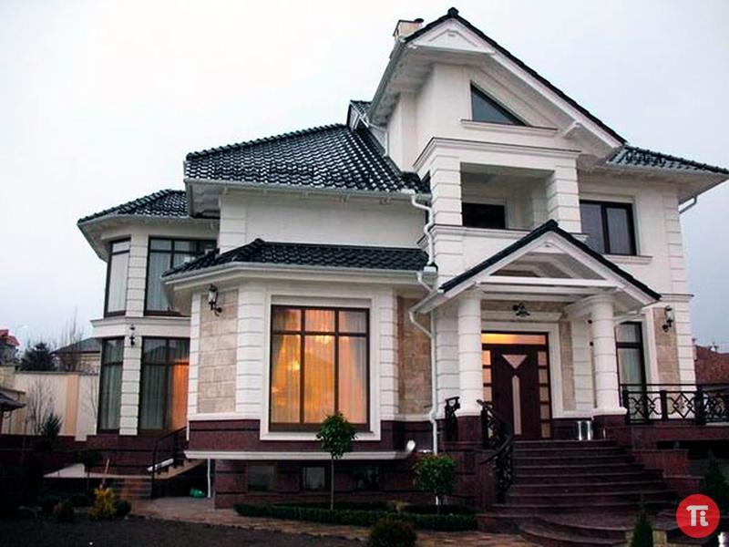 Частные кирпичные дома фото