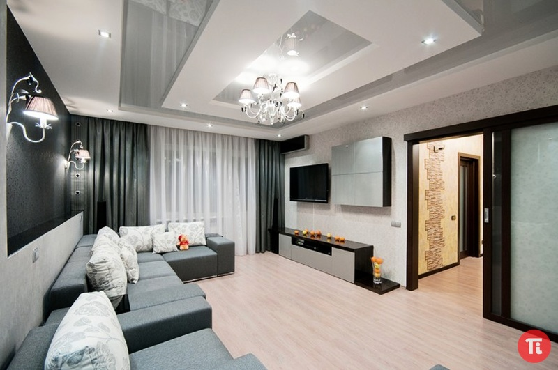Комнаты с дизайнерским ремонтом