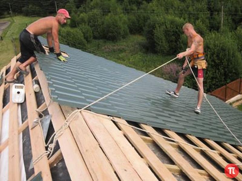 Сделать крышу дома своими руками фото