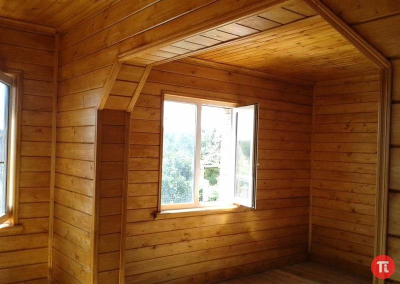 Внутренняя отделка деревянного дома фото имитация бруса своими руками