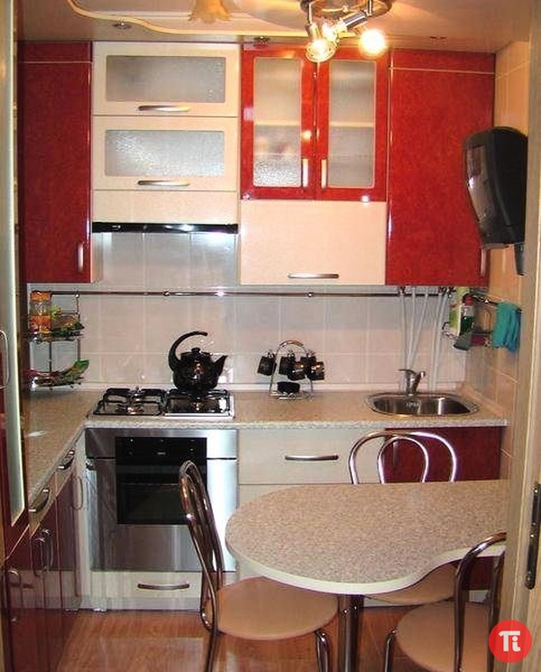 Интерьер для маленькой кухни своими руками фото