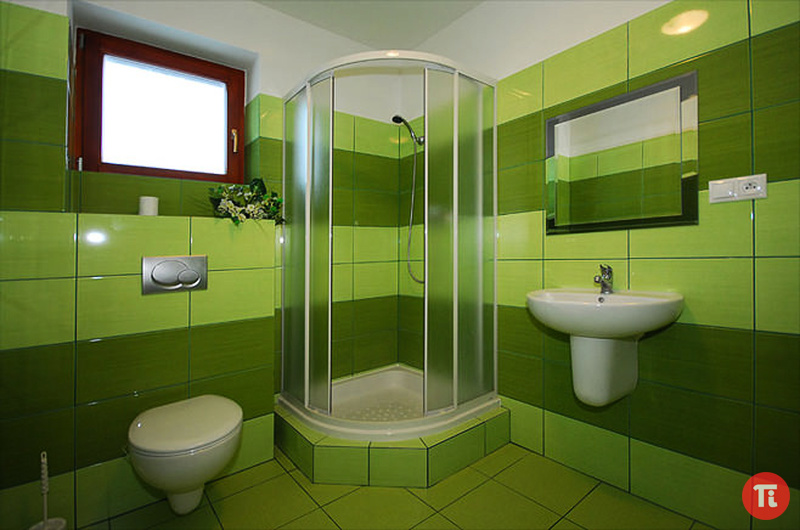 Салатовая ванная комната фото