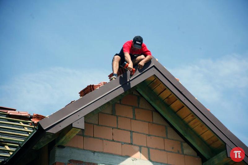 Как сделать край крыши 599