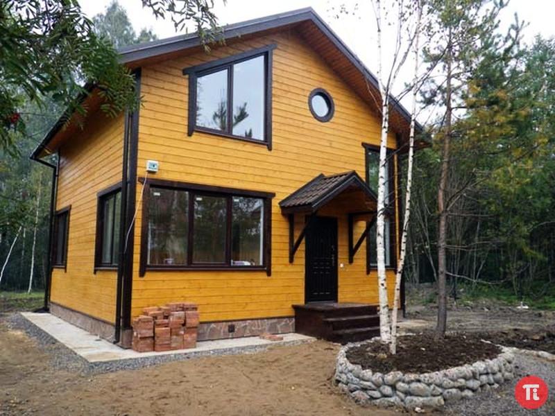 Каркасный дом из СИП панелей со вторым светом