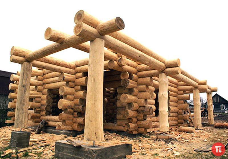 Строительство из бревна дома своими руками от и до видео