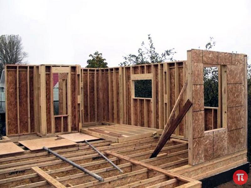 Постройка каркасного дома своими руками в фото