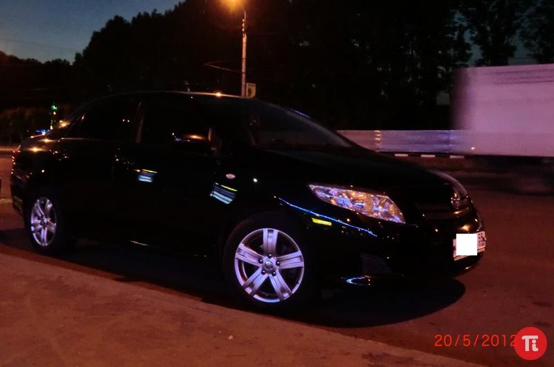 Тойота королла черная фото
