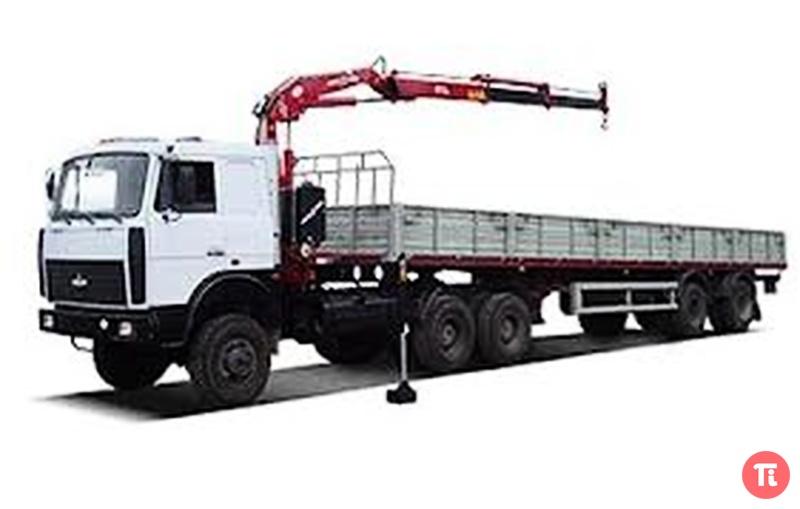Автомобиль МАЗ-642505 оборудован гидроманипулятором AmcoVeba 812 2S (по желанию заказчика возможна установка...