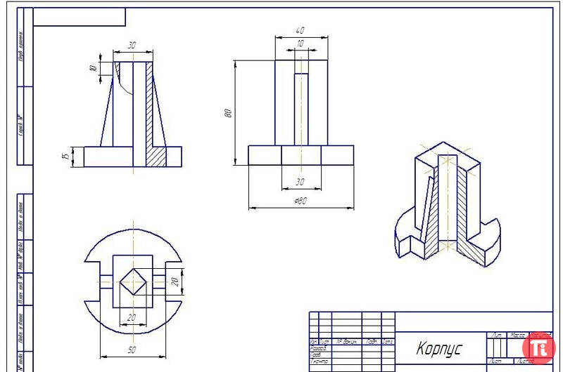Инженерная графика готовые чертежи